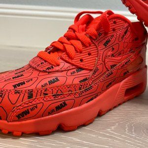 NEW 👟 Nike Air Max 90 SE LTR LOGOS bright crimson